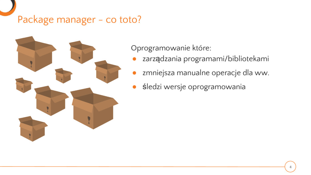 Package manager - co toto? 4 Oprogramowanie któ...