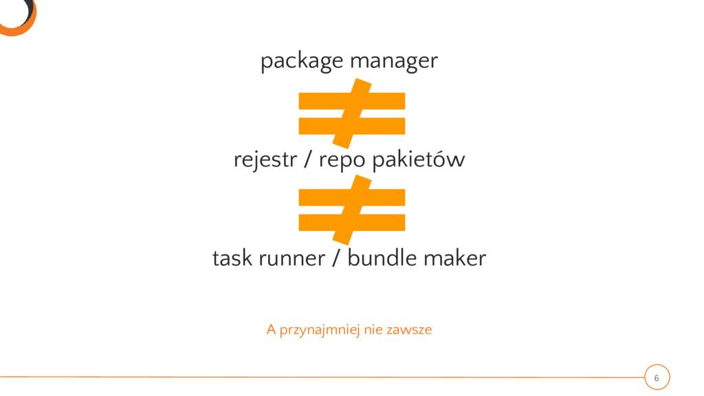 A przynajmniej nie zawsze package manager rejes...