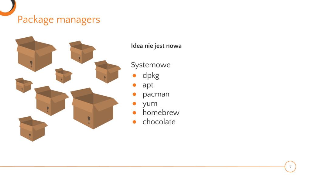 Package managers 7 Idea nie jest nowa Systemowe...