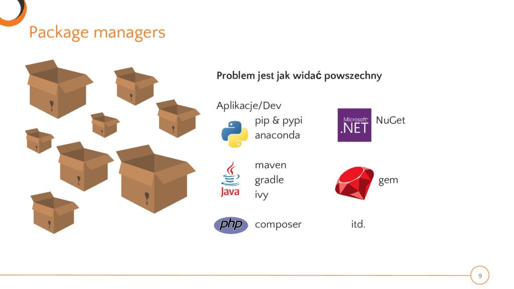 Package managers 9 Problem jest jak widać powsz...