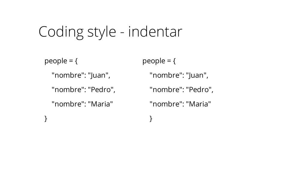 """people = { """"nombre"""": """"Juan"""", """"nombre"""": """"Pedro"""",..."""