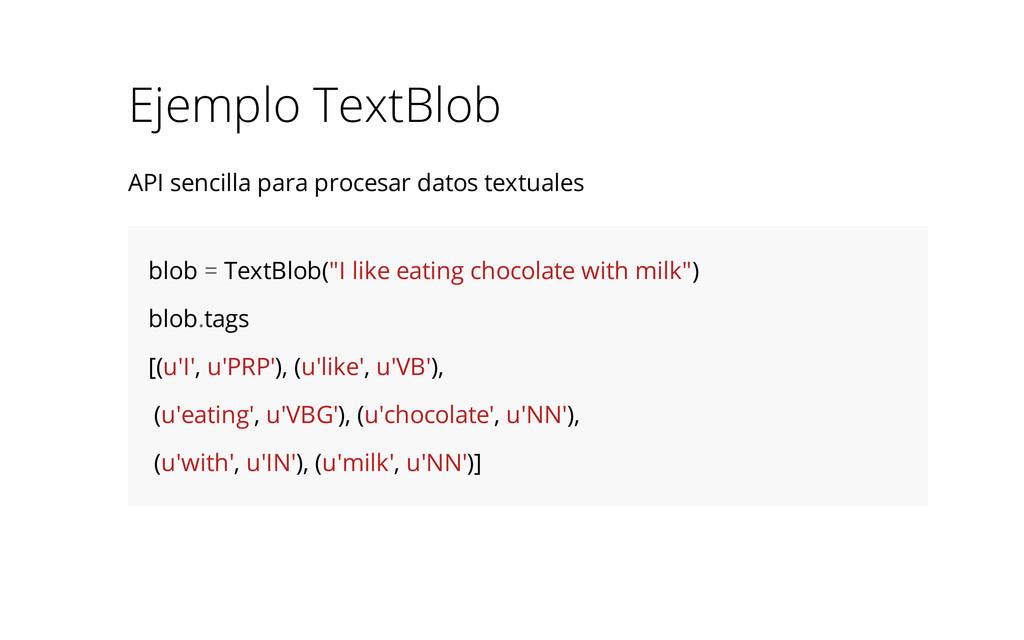 Ejemplo TextBlob API sencilla para procesar dat...