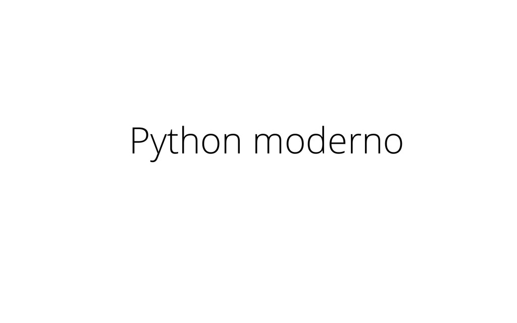Python moderno