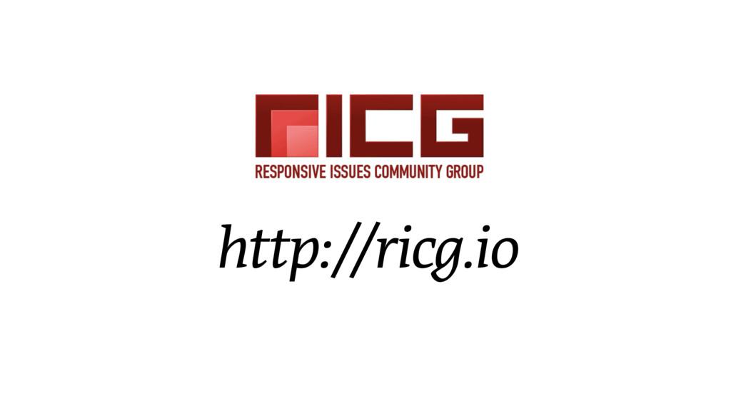 http://ricg.io
