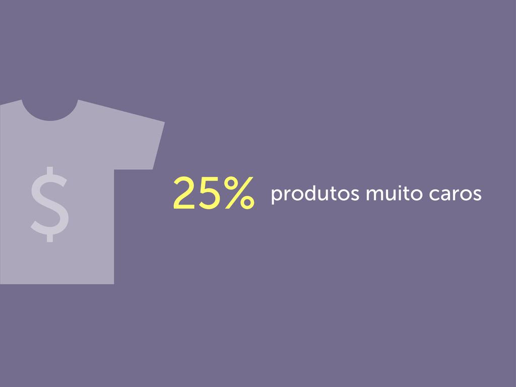 produtos muito caros 25% $