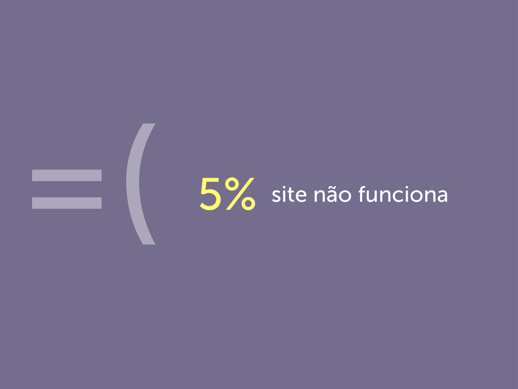 site não funciona 5% =(
