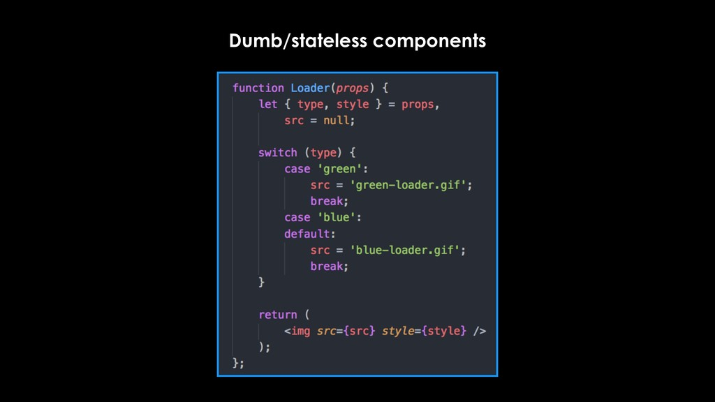 Dumb/stateless components