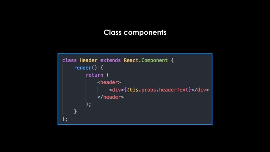 Class components