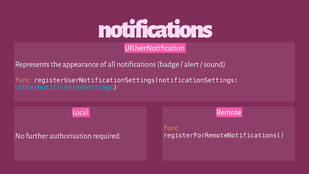 notifications Local No further authorisation re...
