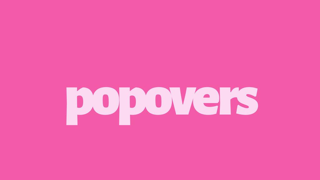 popovers