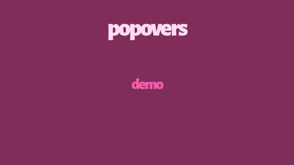 popovers demo