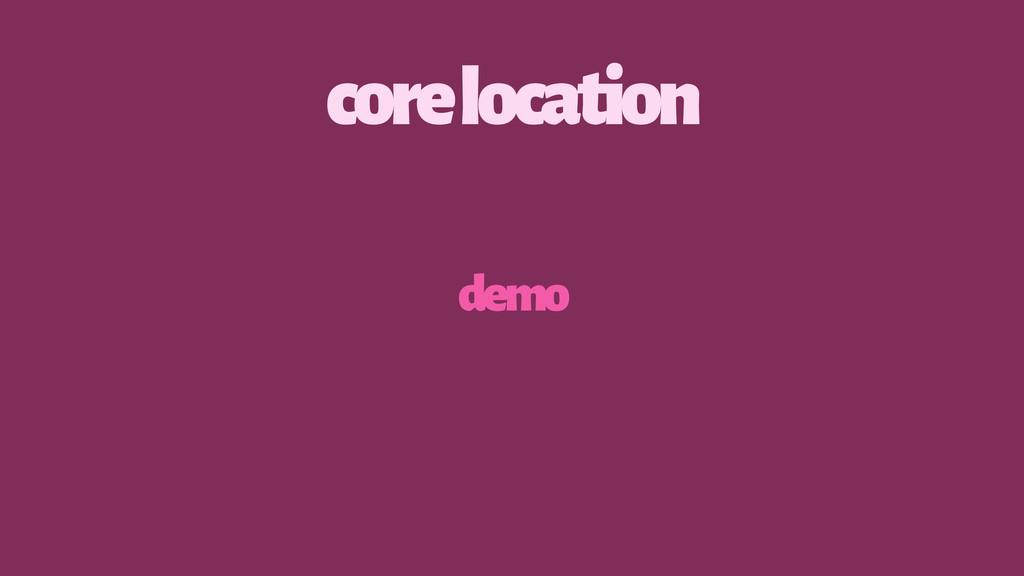 core location demo