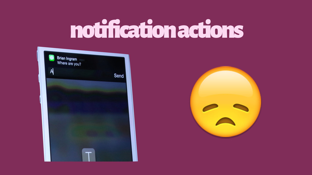 notification actions