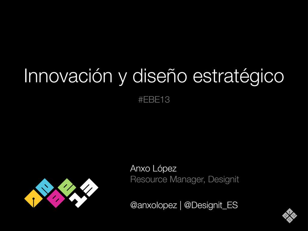 Innovación y diseño estratégico Anxo López Reso...