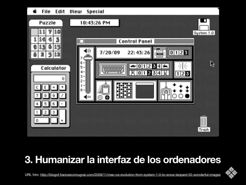 3. Humanizar la interfaz de los ordenadores URL...