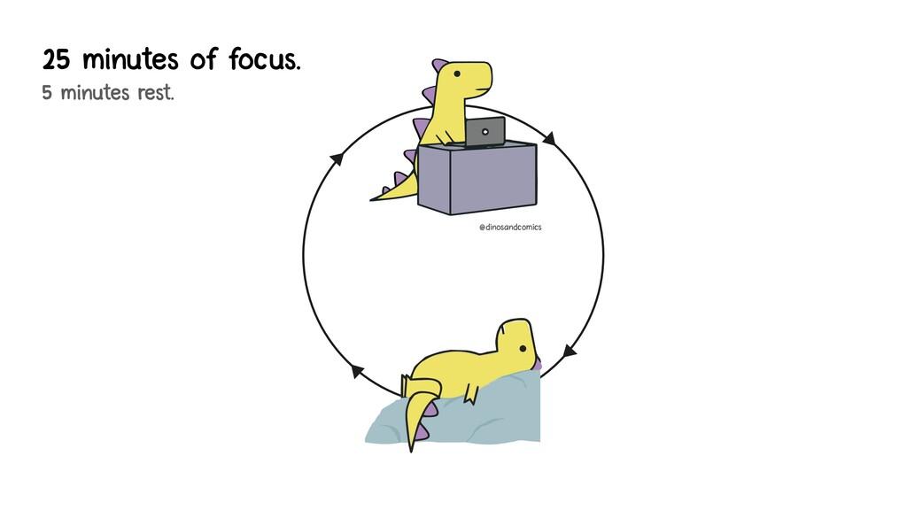 25 minutes of focus. 5 minutes rest. @dinosandc...