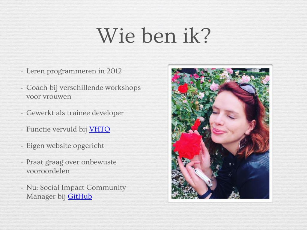 Wie ben ik? • Leren programmeren in 2012 • Coac...