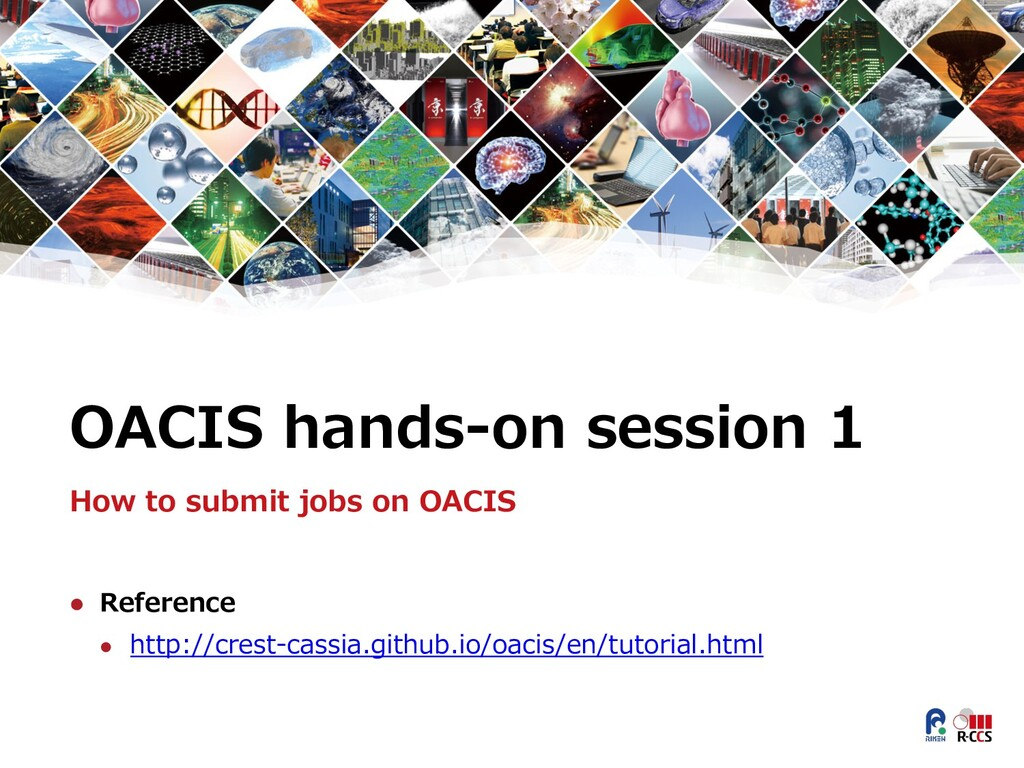 OACIS hands-on session 1 How to submit jobs on ...