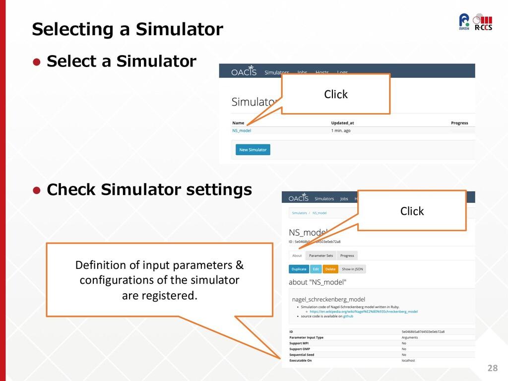 Selecting a Simulator 28 l Select a Simulator l...