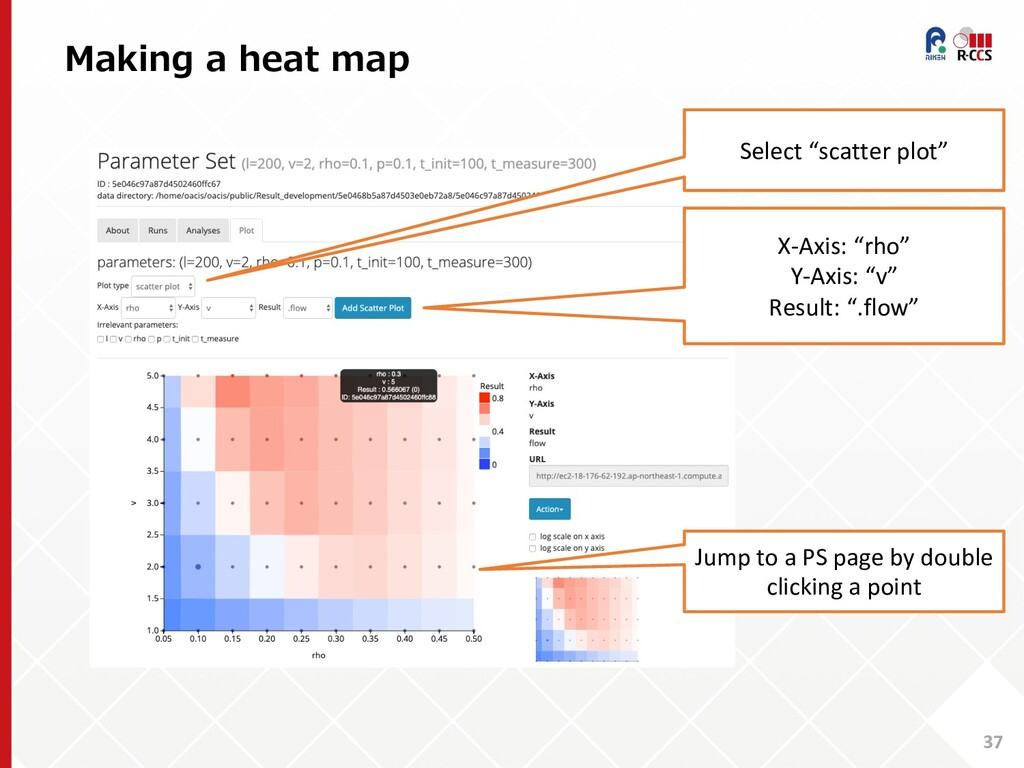 "Making a heat map 37 Select ""scatter plot"" X-Ax..."
