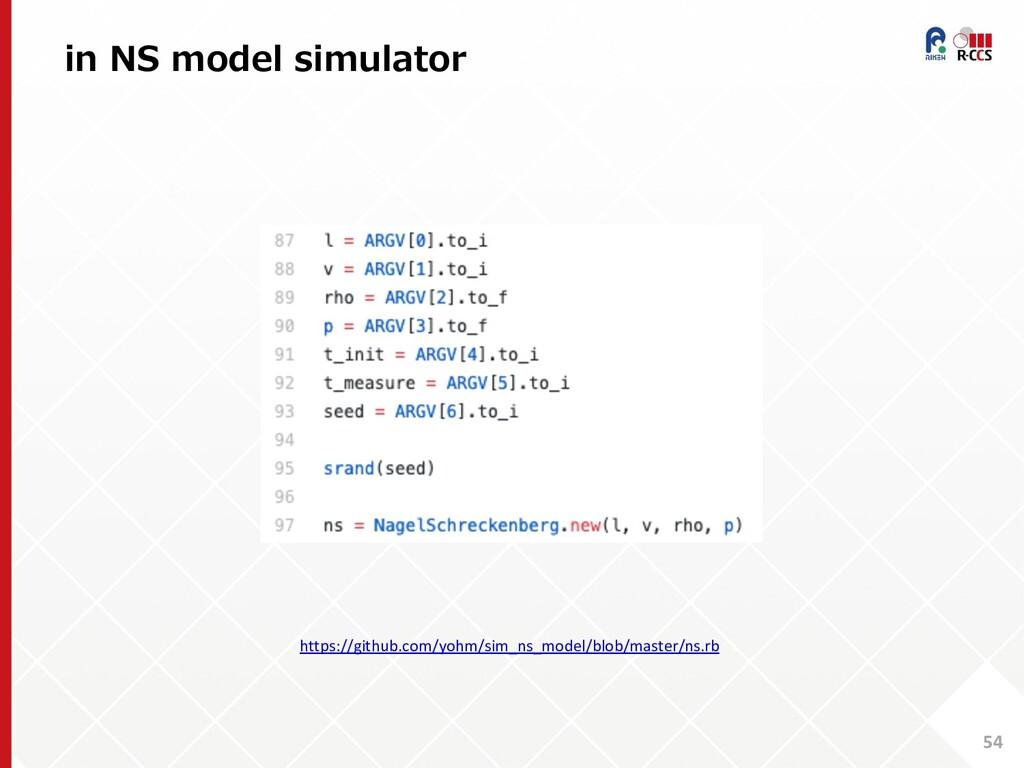 in NS model simulator 54 https://github.com/yoh...