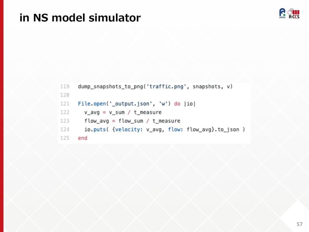 in NS model simulator 57