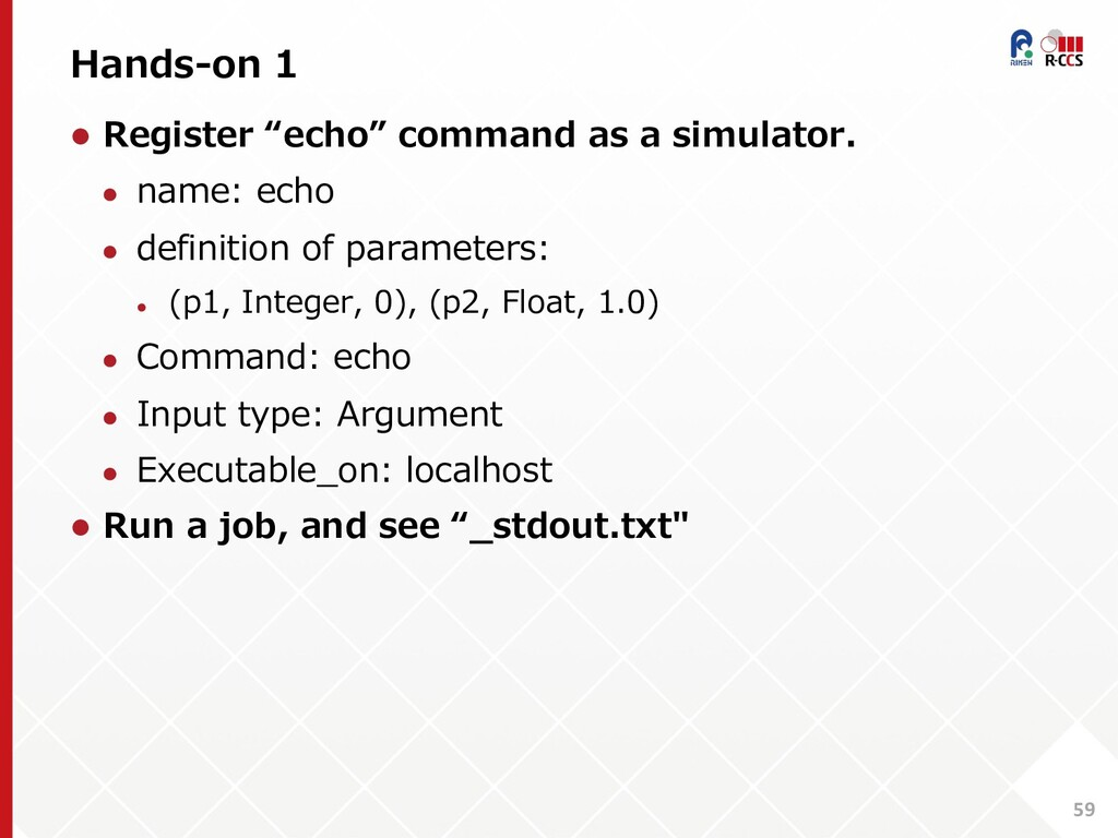 """Hands-on 1 59 l Register """"echo"""" command as a si..."""