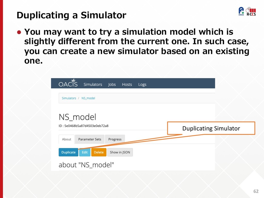 Duplicating a Simulator 62 l You may want to tr...