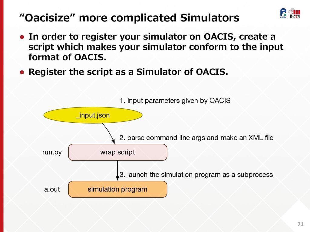 """Oacisize"" more complicated Simulators 71 l In ..."