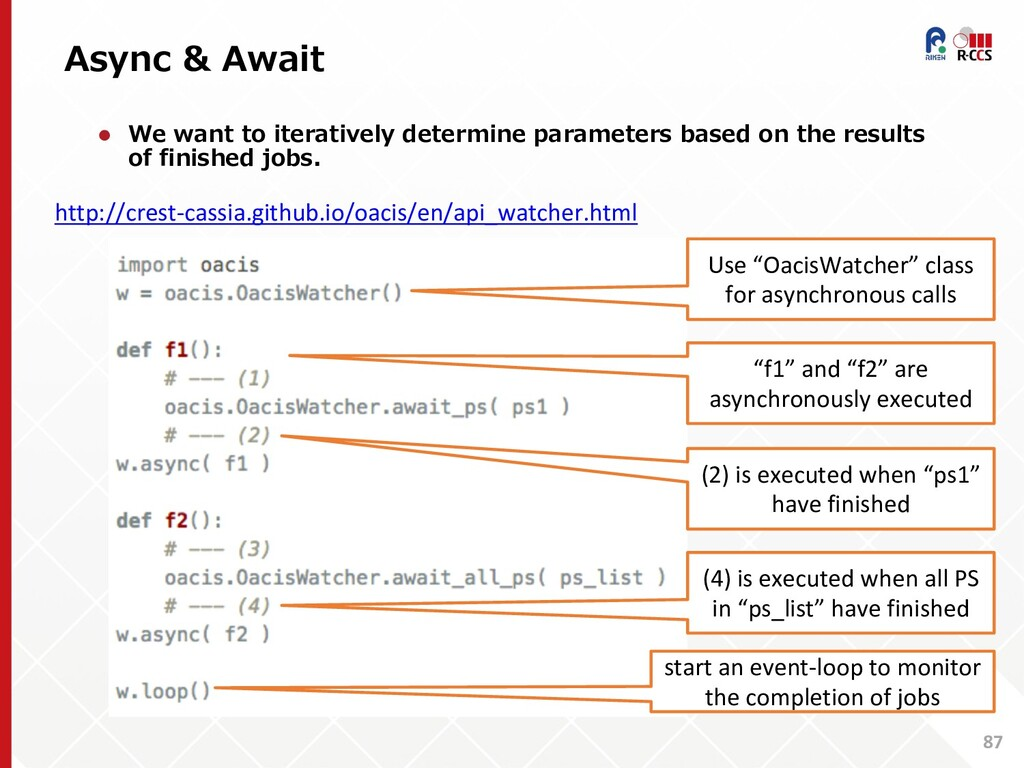 Async & Await 87 l We want to iteratively deter...