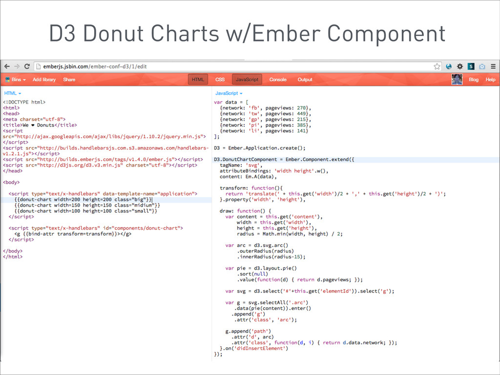D3 Donut Charts w/Ember Component