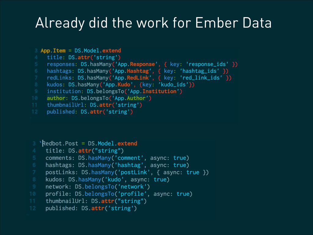 Already did the work for Ember Data