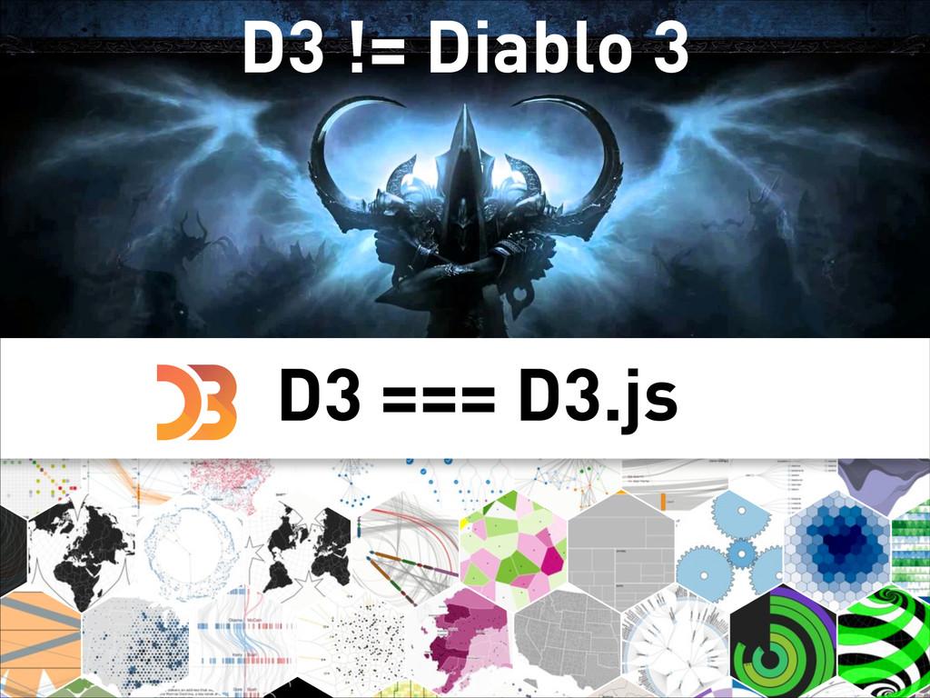 D3 != Diablo 3 D3 === D3.js