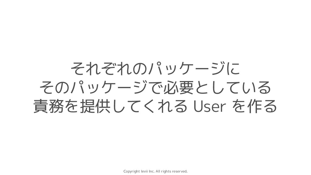 Copyright levii Inc. All rights reserved. それぞれの...