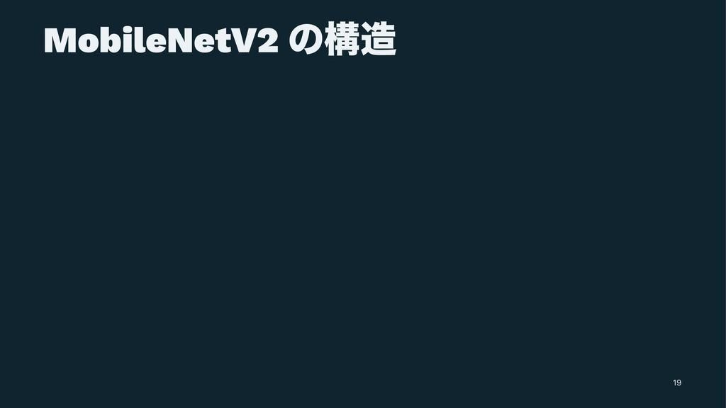 MobileNetV2 ͷߏ 19