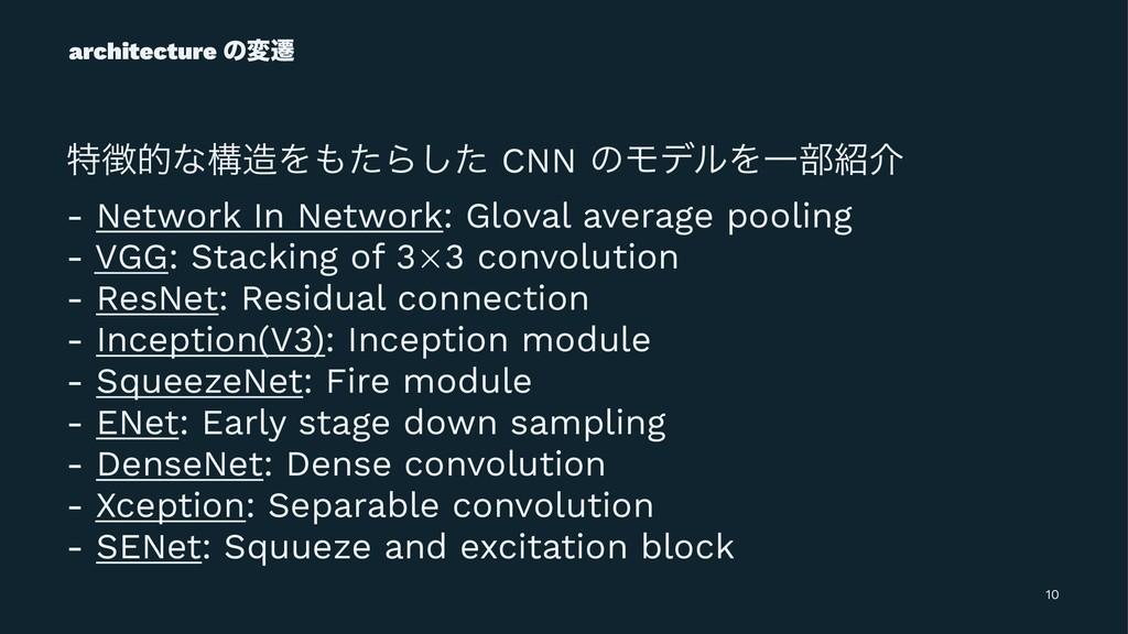 architecture ͷมભ ಛతͳߏΛͨΒͨ͠ CNN ͷϞσϧΛҰ෦հ - N...