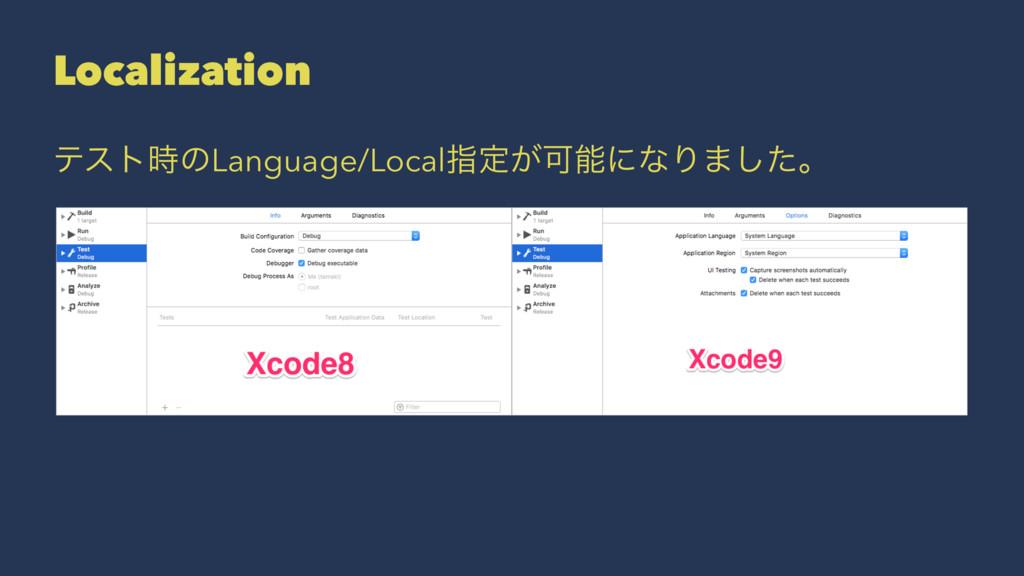 Localization ςετͷLanguage/Localࢦఆ͕ՄʹͳΓ·ͨ͠ɻ