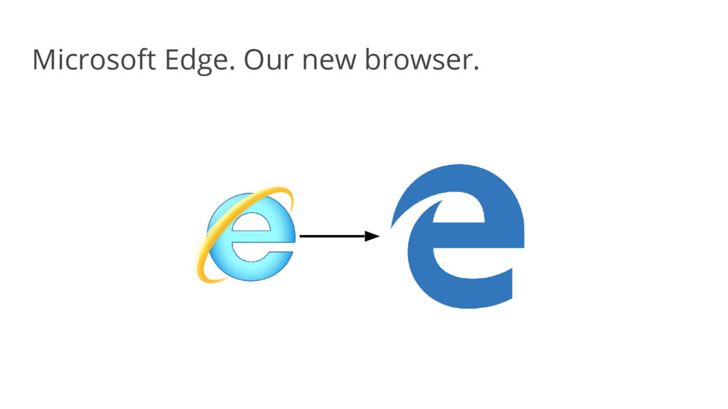 Microsoft Edge. Our new browser.