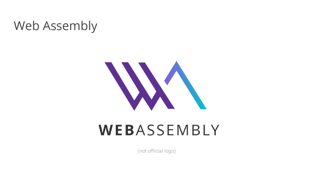 Web Assembly (not official logo)