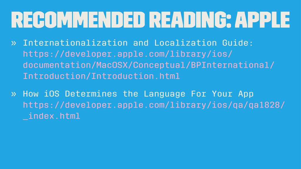 Recommended Reading: Apple » Internationalizati...
