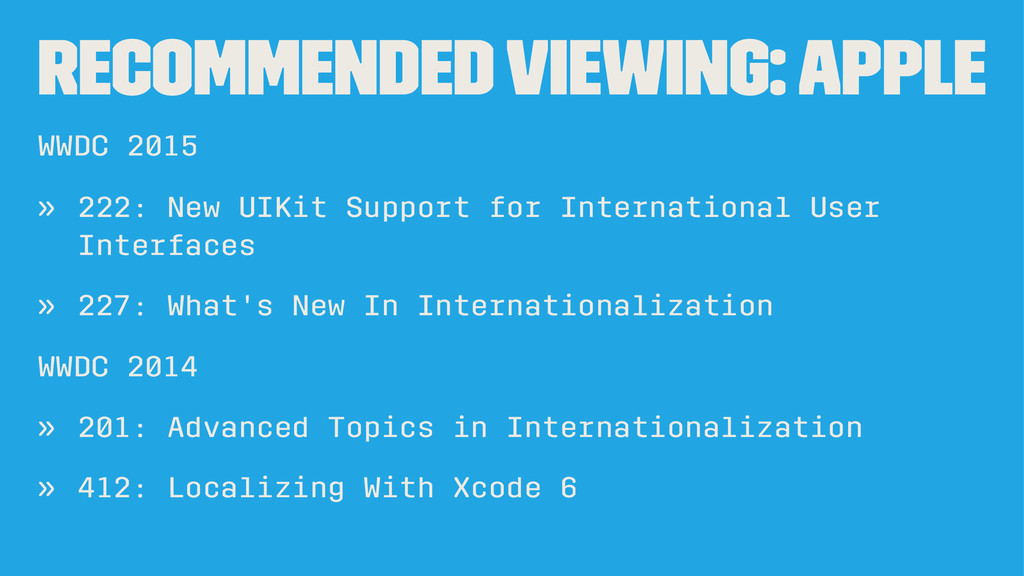 Recommended Viewing: Apple WWDC 2015 » 222: New...