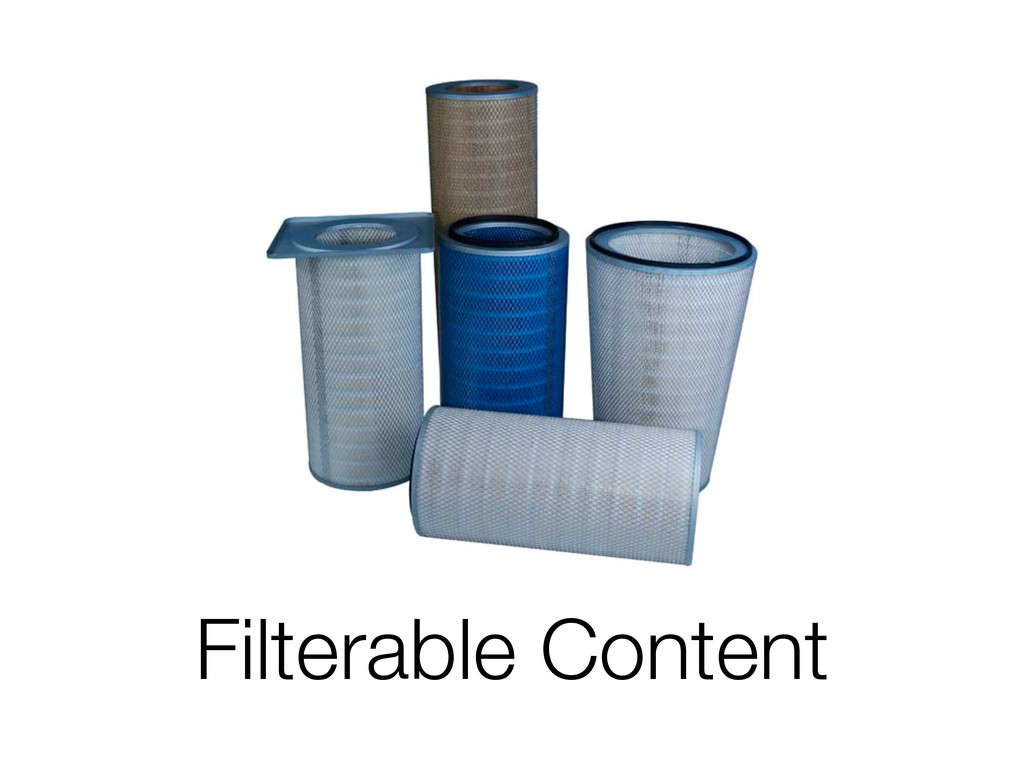 Filterable Content