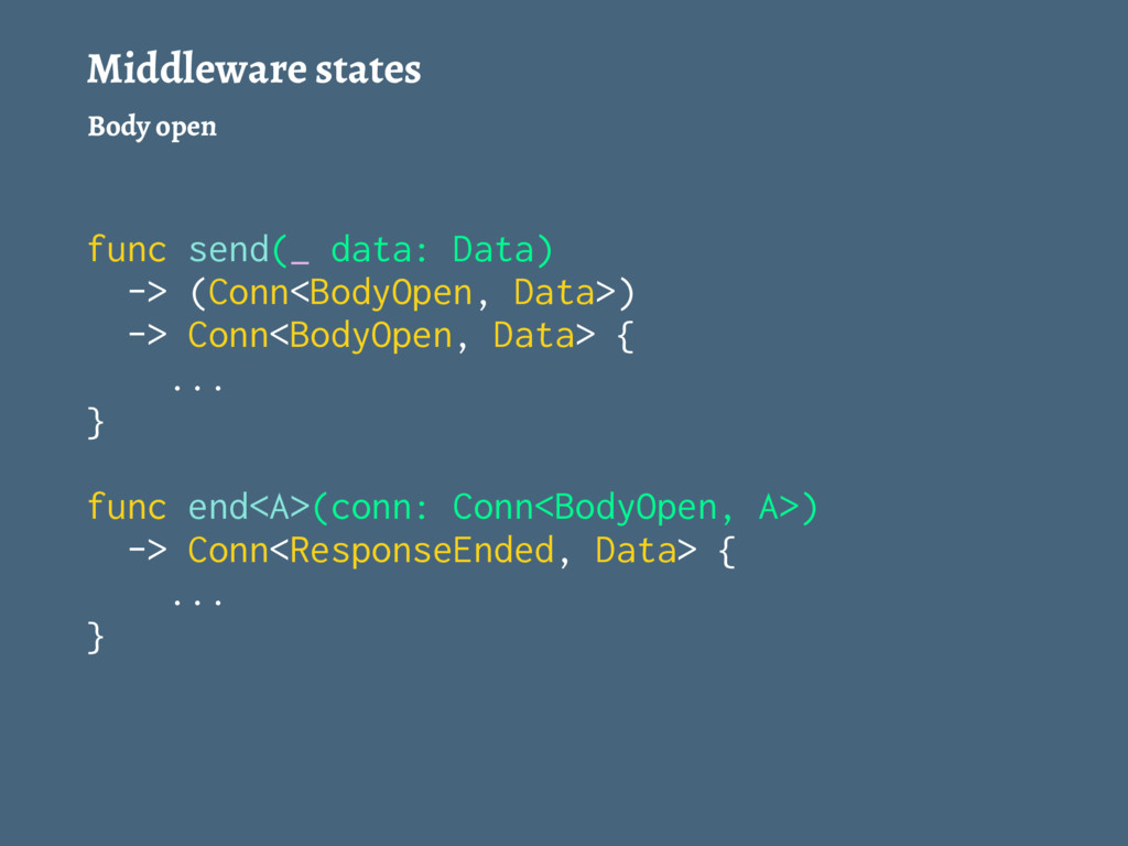 Middleware states Body open func send(_ data: D...