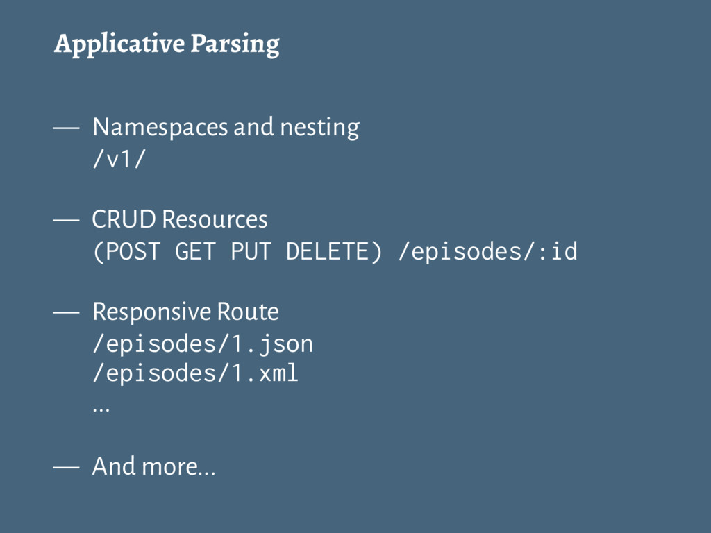 Applicative Parsing — Namespaces and nesting /v...