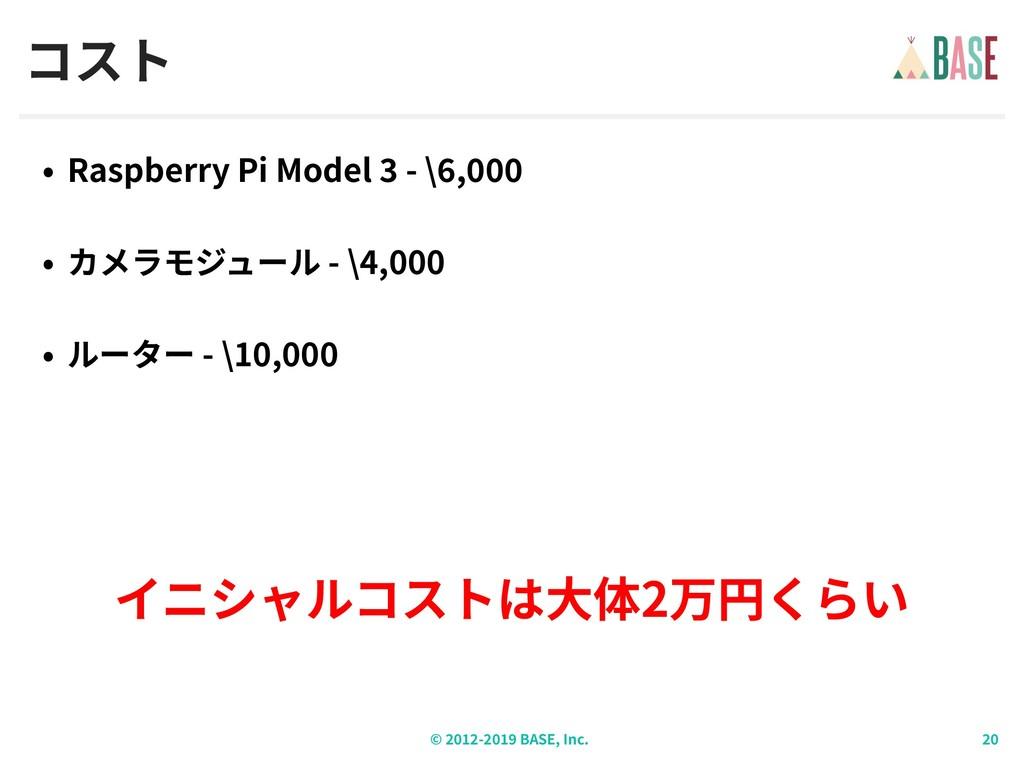 © - BASE, Inc. コスト Raspberry Pi Model - \ , - \...