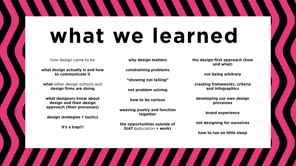 what we learned why design matters constraining...
