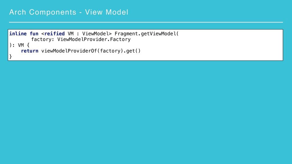 Arch Components - View Model inline fun <reifie...