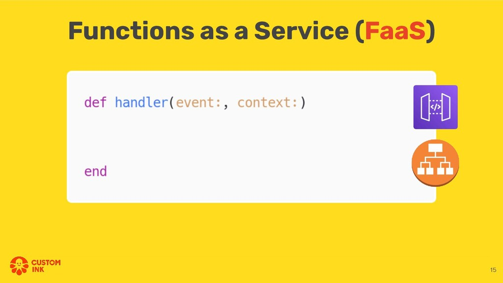 Functions as a Service (FaaS) 15