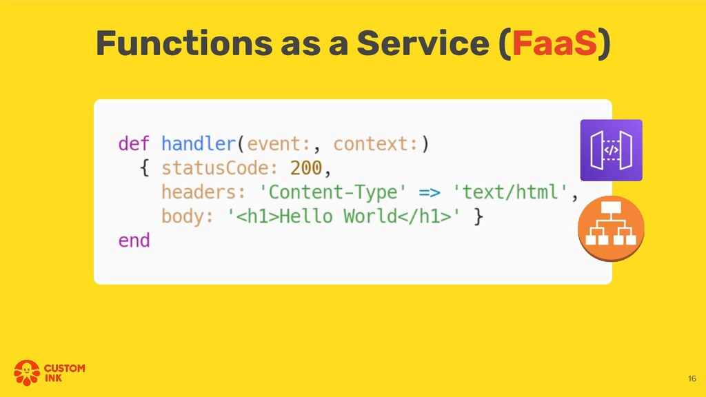 Functions as a Service (FaaS) 16