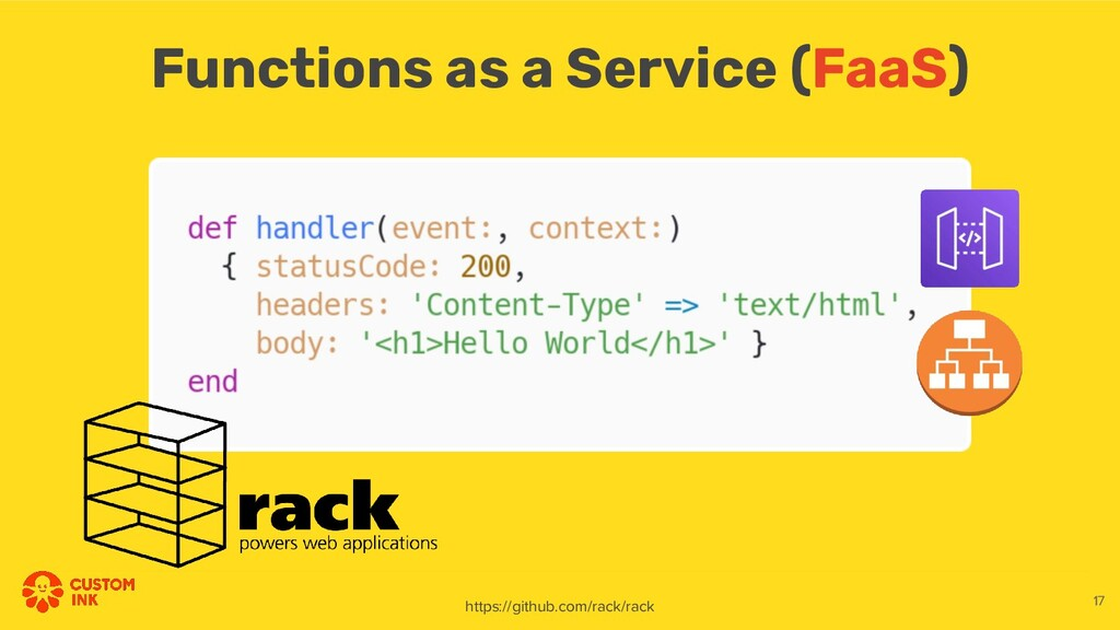 Functions as a Service (FaaS) https://github.co...